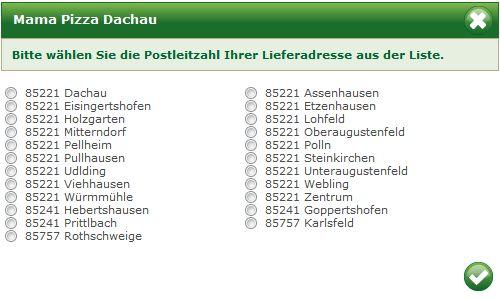 Liefergebiete Mama Pizza Heimservice 85221 Dachau